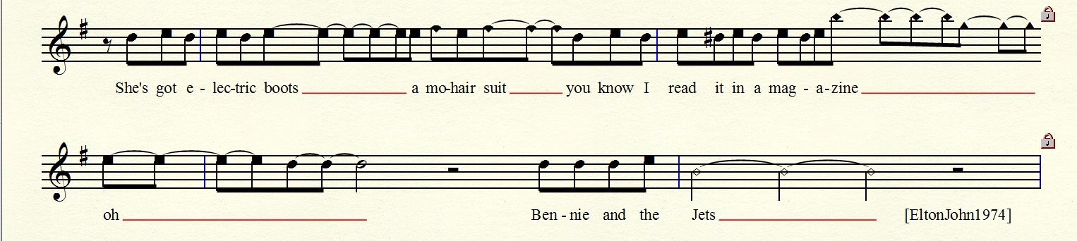 Rhythm Example Excerpt BennieAndTheJets-EltonJohn1974